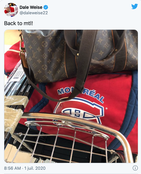 Dale Weise is BACK in Montreal....
