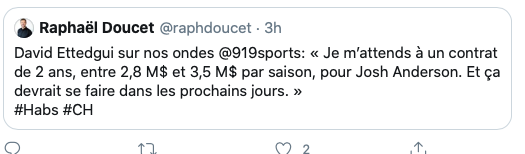 Le 91,9 Sports n'utilisera plus le FAKE AGENT qui dit des conneries...