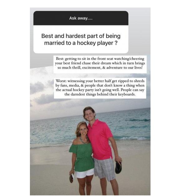 Hockey30 La Femme De Jeff Petry A T Elle Bien Fait De Viser Les Medias Et Les Fans De Montreal